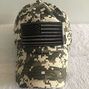 American flag Velcro patch hat